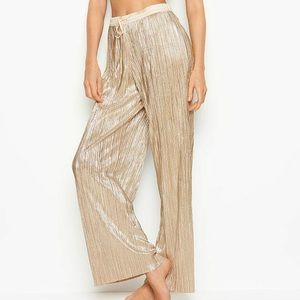 Victoria's Secret Gold and Silver Wide Leg Pant